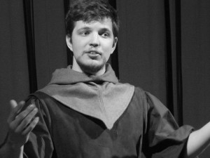 Mr. Geraint Williams as Geoffrey Chaucer. Photograph by Ian D. Hall