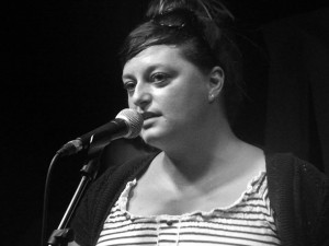 Amy Bielizna of Selfish Lovers at the Zanzibar, Liverpool. June 2014. Photograph by Ian D. Hall.