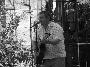 Billy Kelly at St. Luke's Church, Liverpool. August 2014.