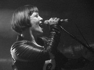 Saffron of Republica at the 02 Academy in Liverpool. October 2014. Photograph by Ian D. Hall.