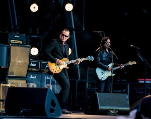 Joe Bonamassa on stage in Greenwich. Photograph by Dafydd Owen.