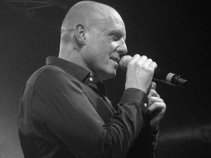 Heaven 17's Glenn Gregory at the Liverpool 02 Academy, October 2016.