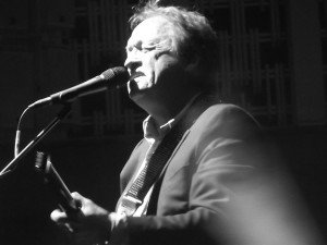 Level 42's Mark King at the Philharmonic Hall, Liverpool. October 2016. Photograph by Ian D. Hall.